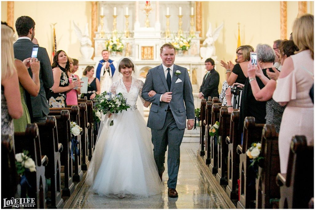 Dumbarton+House+DC+Wedding+recessional